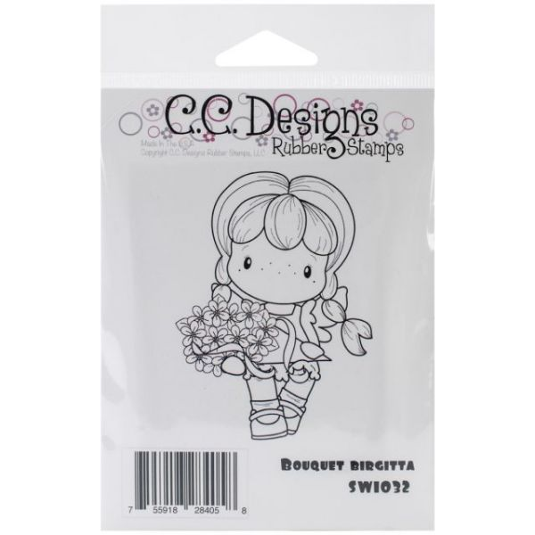 "Swiss Pixie Cling Stamp 3.25""X2.75"""