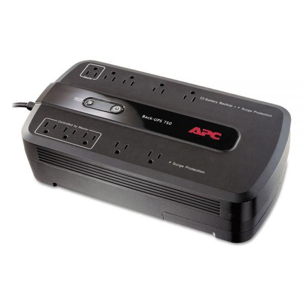 APC Back-UPS ES 750 Battery Backup System, Ten-Outlets, 750 Volt Amps