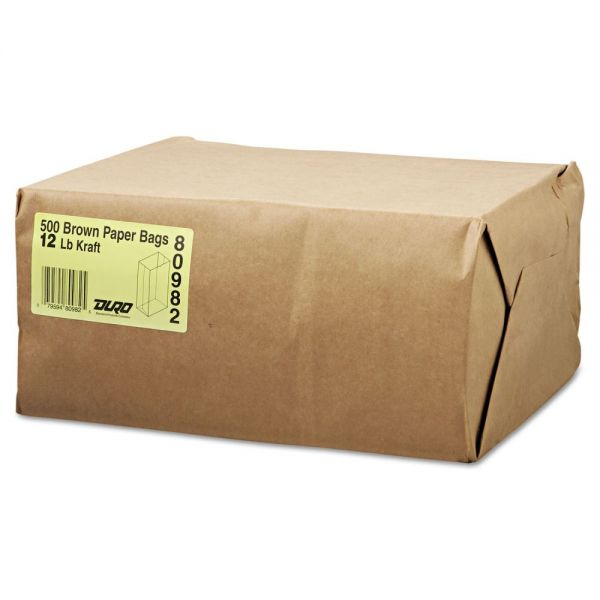 General #12 Brown Paper Grocery Bags