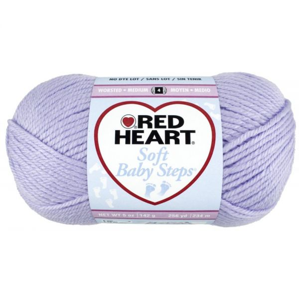 Red Heart Soft Baby Steps Yarn - Lavender