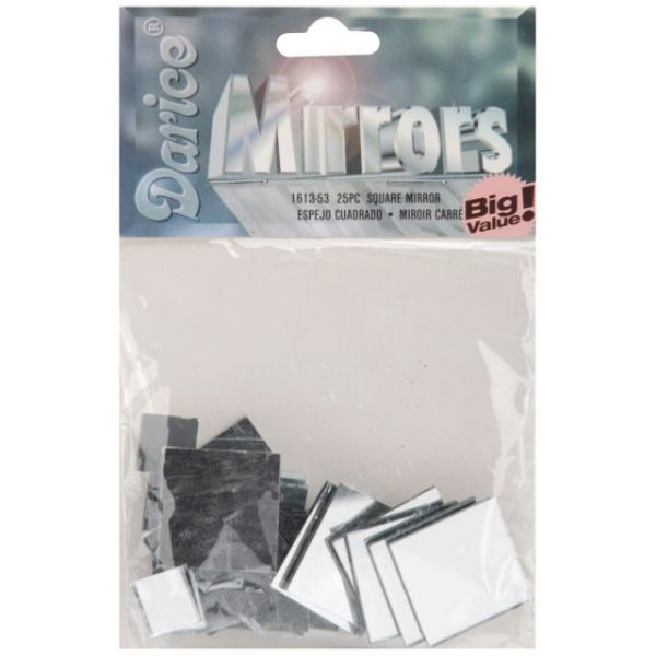 Square Glass Mirrors 25/Pkg