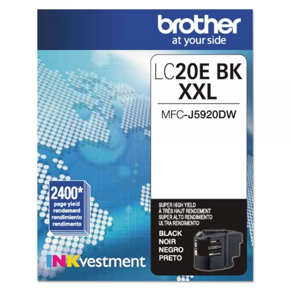 Brother LC20EBK INKvestment Super High-Yield Ink, Black