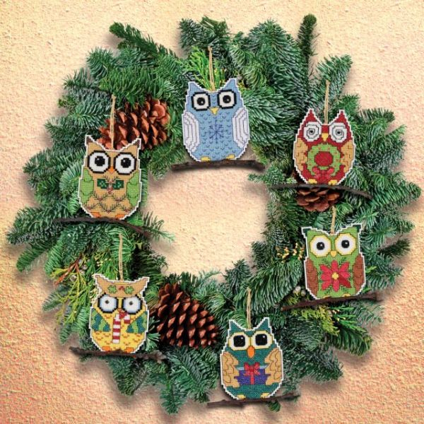 Janlynn Owl Ornaments Counted Cross Stitch Kit
