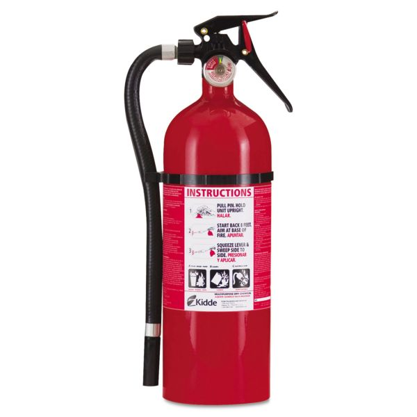 Kidde Service Lite Multi-Purpose Dry Chemical Fire Extinguisher, 5lb, 3-A, 40-B:C