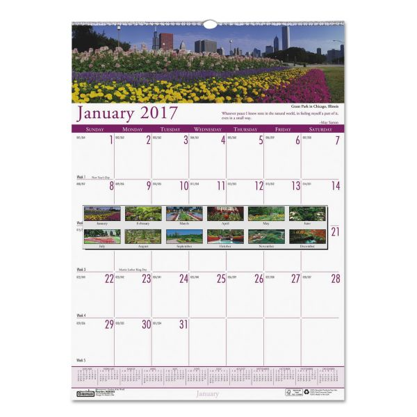 House of Doolittle Earthscapes Gardens Monthly Wall Calendar