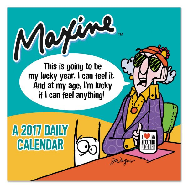 TF Publishing Maxine Box Desk Calendar