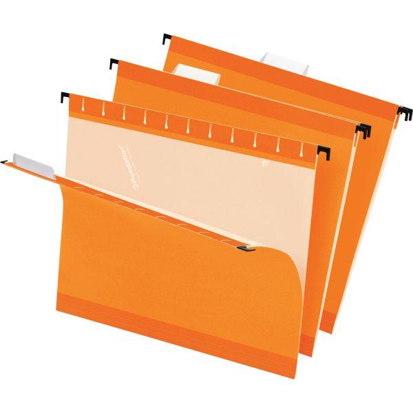 Pendaflex Reinforced Hanging Folders, 1/5 Tab, Letter, Orange, 25/Box