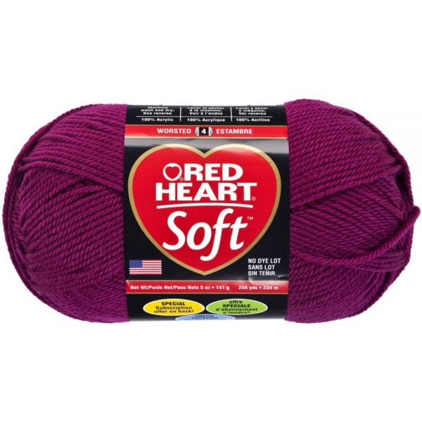 Red Heart Soft Yarn - Berry