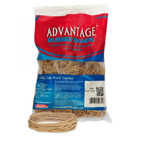 Alliance Rubber 06197 Advantage Rubber Bands - Size #19