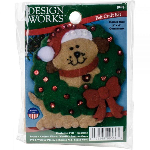 Dog Ornament Felt Applique Kit