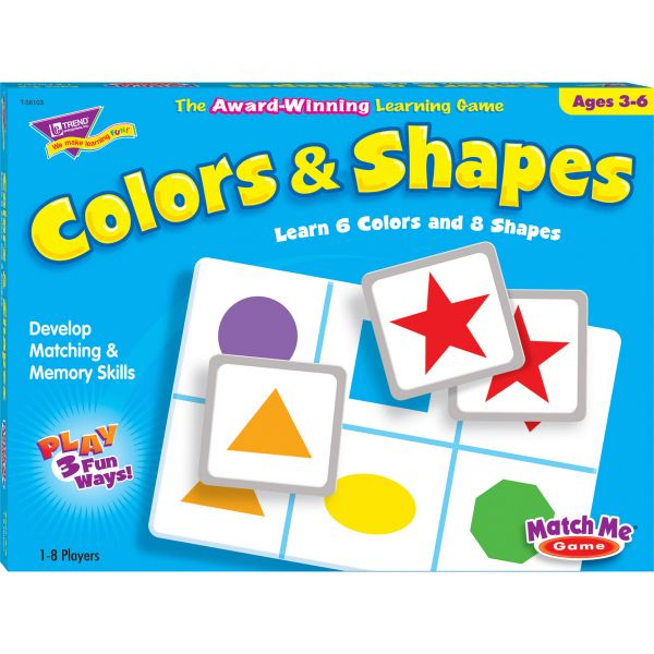 Trend Colors/Shapes Match Me Learning Game