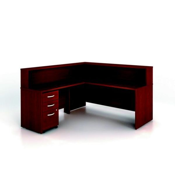 bbf Series C Reception Configuration - Mahogany finish by Bush Furniture