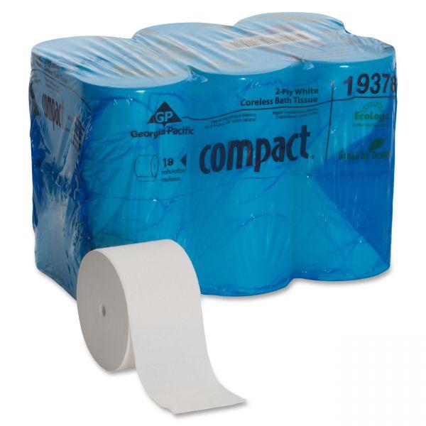 Compact Coreless High Capacity Toilet Paper