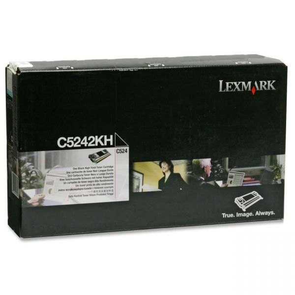 Lexmark C5242KH High-Yield Toner, 8000 Page-Yield, Black