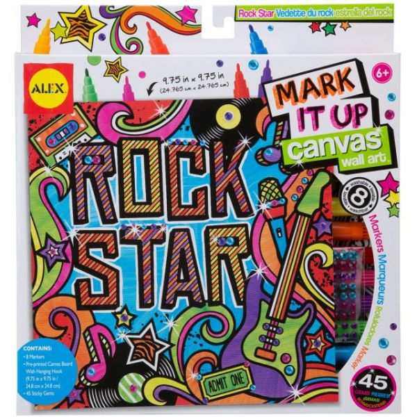 ALEX Toys Artist Studio Rock Star Mark It Up Canvas Wall Art