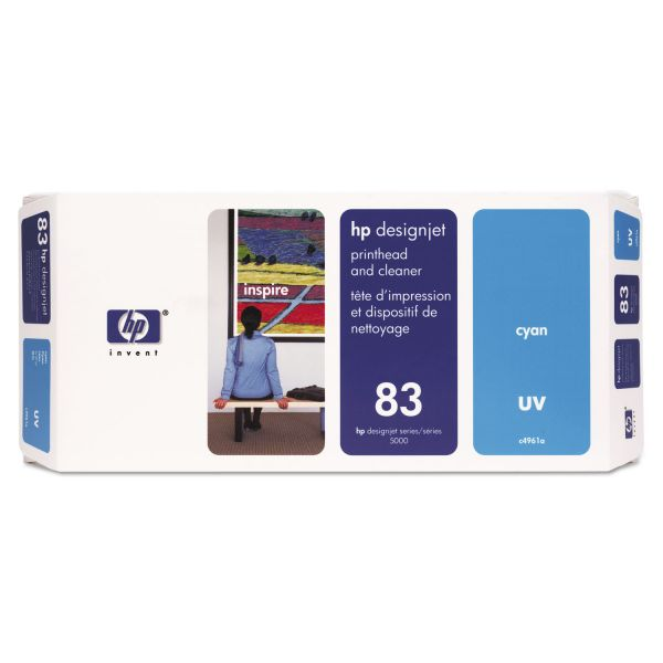 HP 83 UV Cyan Printhead & Cleaner (C4961A)