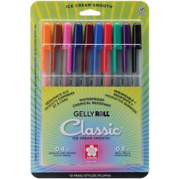 Gelly Roll Medium Point Pens 10/Pkg