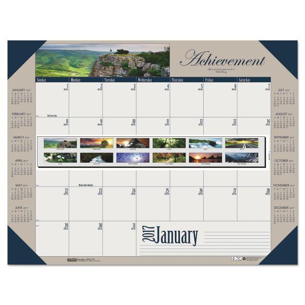 House of Doolittle Motivational Photographic Monthly Desk Pad Calendar