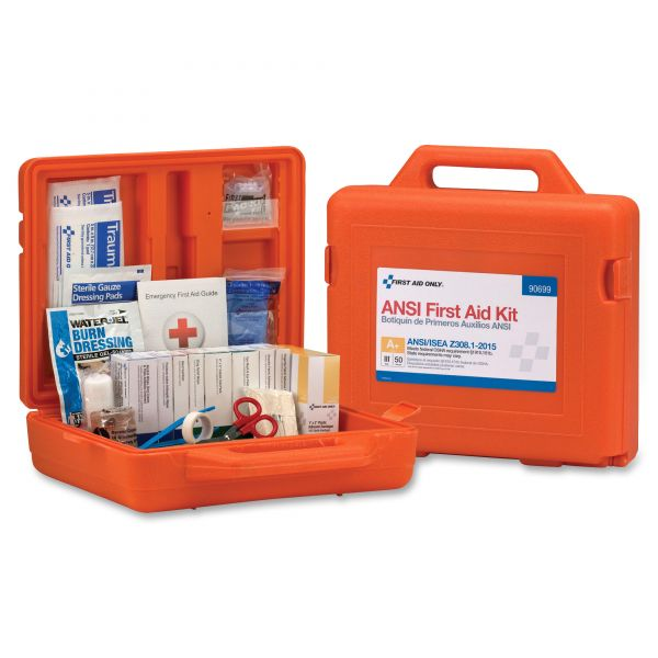 First Aid Only ANSI Class A+ First Aid Kit for 50 People, Weatherproof, 215 Pieces