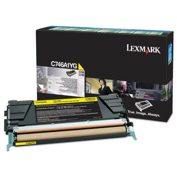 Lexmark C746A1YG Yellow Return Program Toner Cartridge
