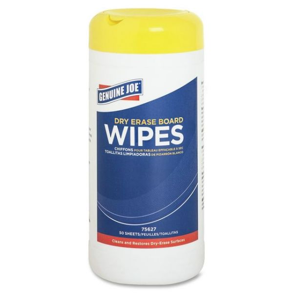 Genuine Joe Dry Erase Board Cleaning Wipes