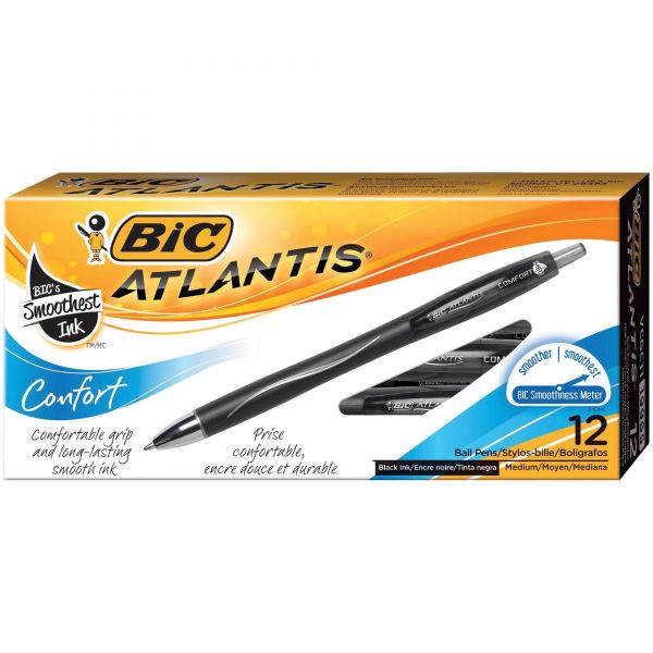 BIC Atlantis Comfort Retractable Ballpoint Pens