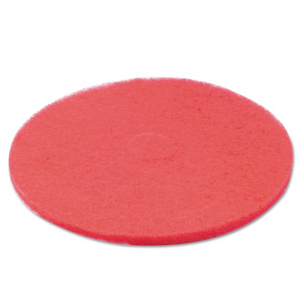 "Boardwalk Standard 22"" Diameter, Burnish/Buffing Floor Pads, Red"