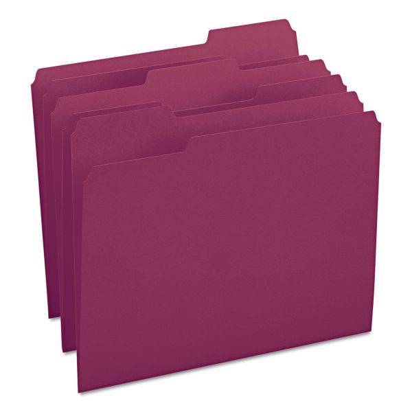 Smead Maroon Colored File Folders