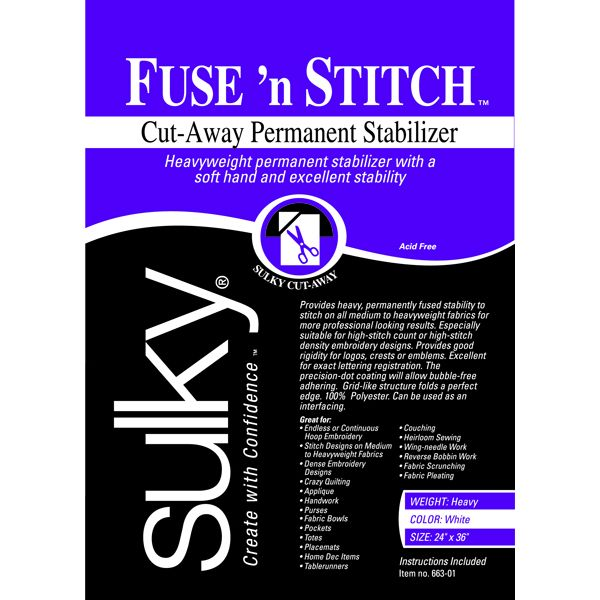 Fuse 'n Stitch Cut-Away Permanent Stabilizer