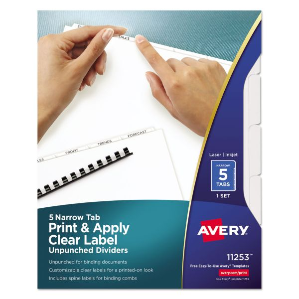 Avery Index Maker Narrow Tab Dividers