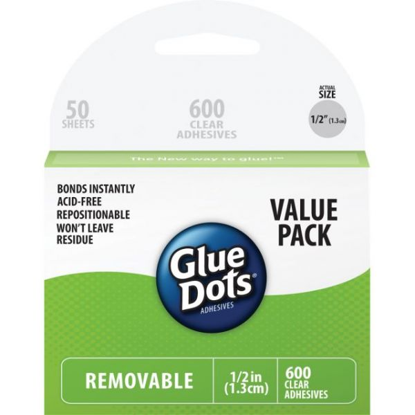 Glue Dots Removable Dot Sheets Value Pack