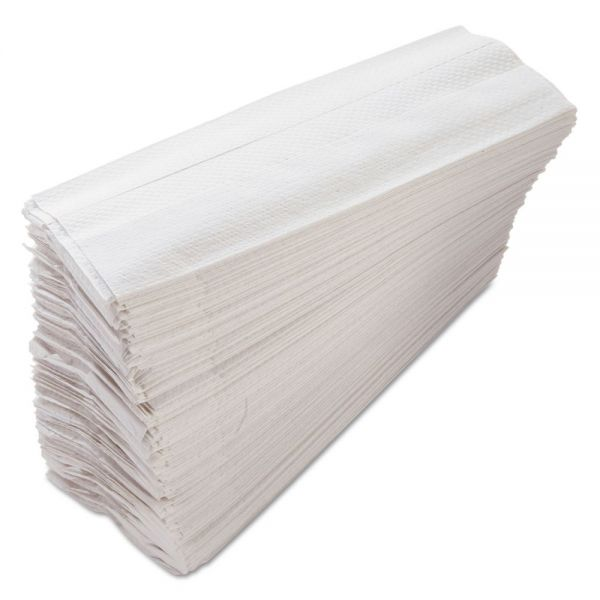 Morcon Paper C-Fold Paper Towels, 10 x 12 1/4, 1-Ply, White, 200 Sheets/Pack, 12 Packs/Carton