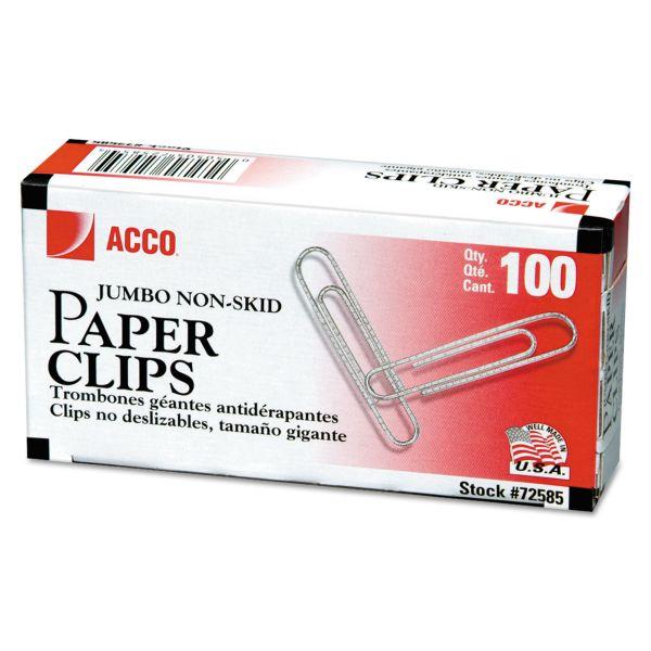 Acco Jumbo Nonskid Paper Clips