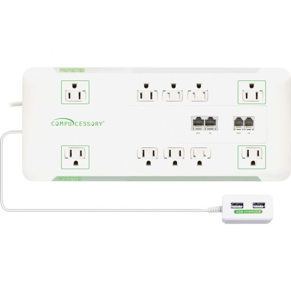 Compucessory Slim 10-Outlet Surge Block Protector