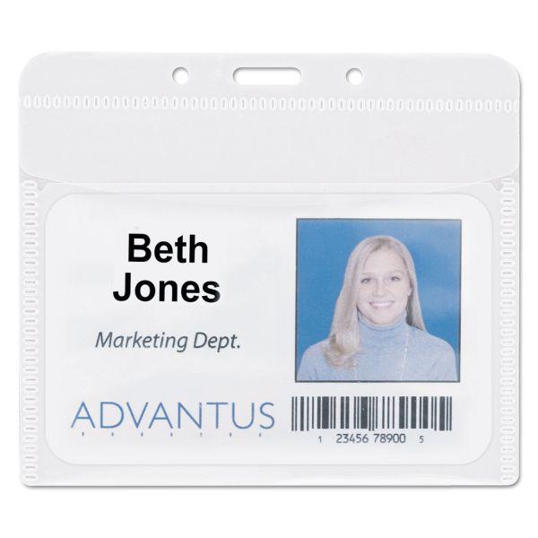 Advantus PVC-Free Horizontal Badge Holders