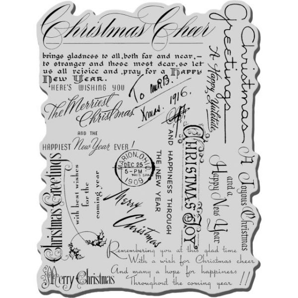 "Stampendous Christmas Cling Rubber Stamp 4""X6"" Sheet"