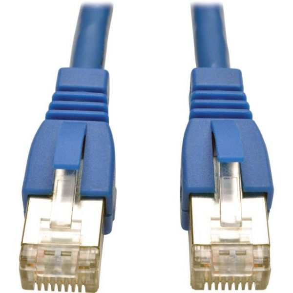 Tripp Lite 10ft Augmented Cat6 Cat6a Shielded 10G Patch Cable RJ45 M/M Blue 10'