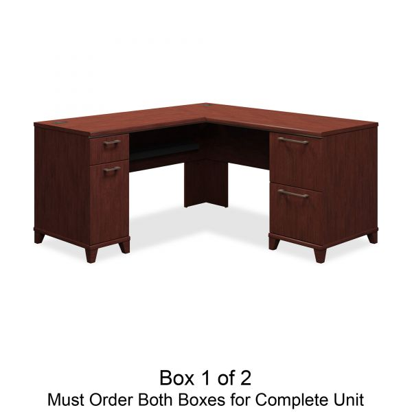 bbf Enterprise L-Shaped Office Desk by Bush Furniture *Box 1 of 2