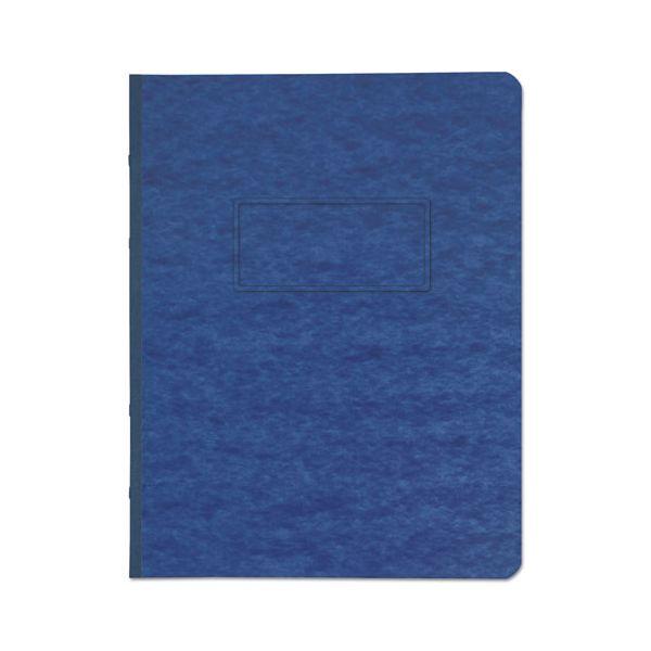 "Universal Pressboard Report Cover, Prong Clip, Letter, 3"" Capacity, Dark Blue"