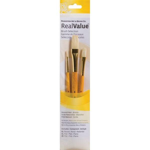 Natural Bristle Real Value Brush Set