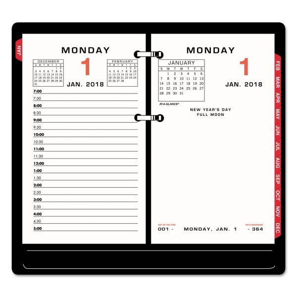 At-A-Glance Loose Leaf Daily Desk Calendar Refill