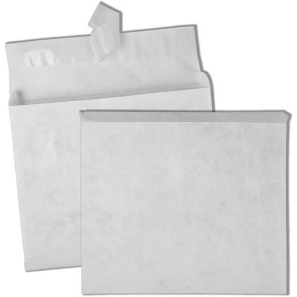 Survivor Tyvek Booklet Expansion Mailer, 10 x 13 x 2, White, 100/Carton