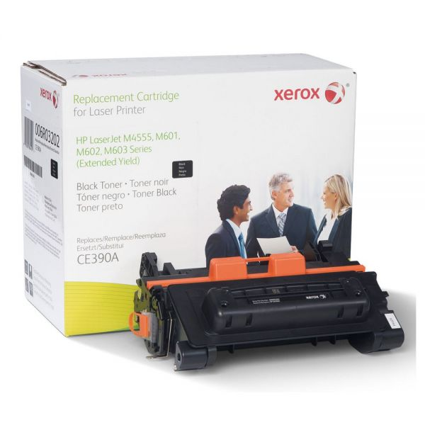 Xerox 006R03202 Remanufactured CE390A (90A) Extended-Yield Toner, Black