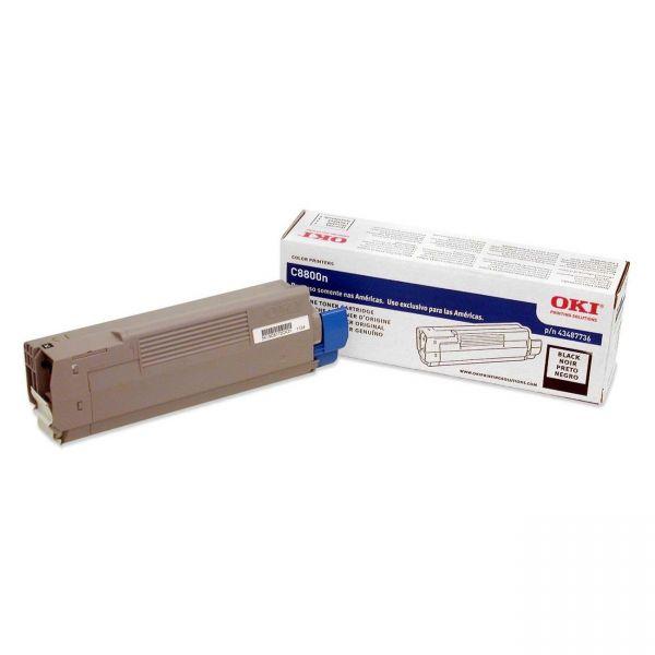 Oki 43487736 Black Toner Cartridge