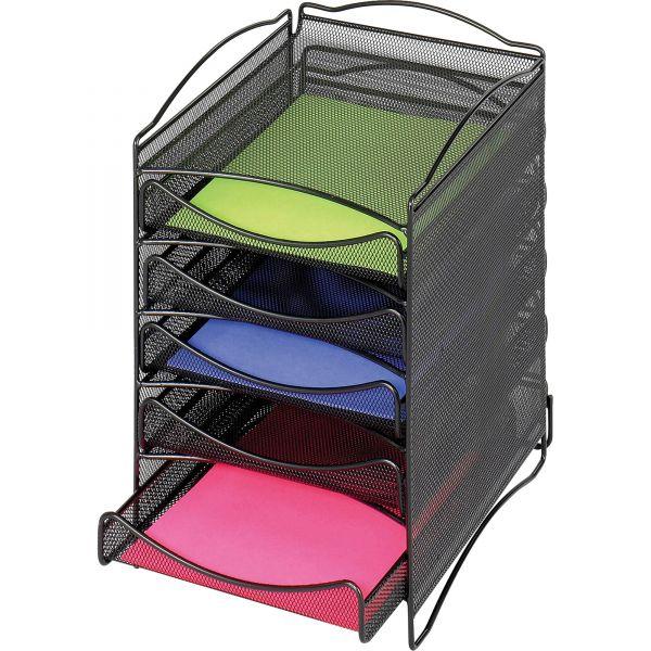 Safco 5-Compartment Mesh Desktop Organizer