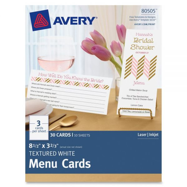 Avery Laser, Inkjet Print Note Card