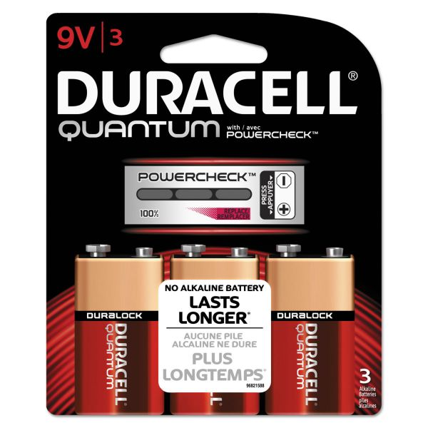 Duracell Quantum 9V Batteries w/ Duralock Power Preserve Tech
