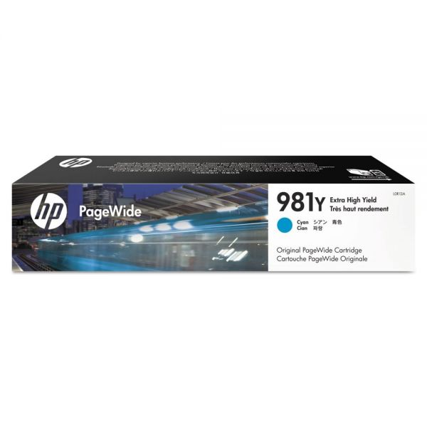 HP 981Y Extra High-Yield Cyan Ink Cartridge (L0R13A)