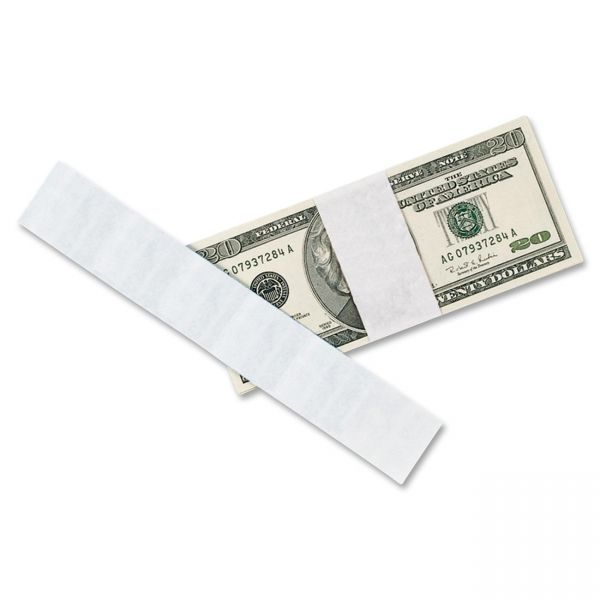 Self-Adhesive Currency Straps, Blank, 1000 Bands per Pack