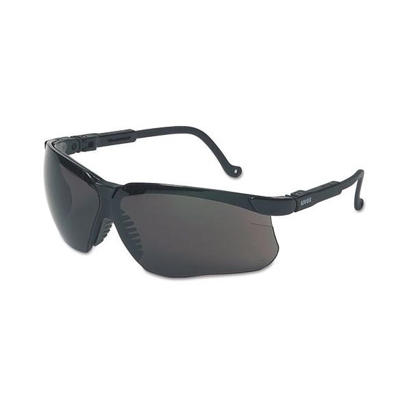 Honeywell Uvex Genesis Safety Eyewear, Black Frame, Dark Gray Lens